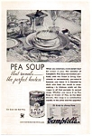 Click here to enlarge image and see more about item auc033412: Campbell's Pea Soup Ad 1934
