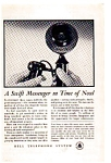 Click here to enlarge image and see more about item auc033413: Bell Telephone Swift Messenger Ad auc033413