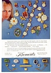 Click here to enlarge image and see more about item auc034: Krementz  Jewelry Ad 1968