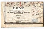 Europe Map National Geographic Jun 1957