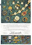Krementz  Jewelry Circle Brooch Ad 1967