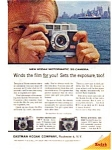 Click here to enlarge image and see more about item auc046112: Kodak Motormatic 35 Camera Ad auc046112 April 1961