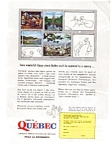 Click here to enlarge image and see more about item auc046117: Quebec Tourist Bureau Ad auc046117 April 1961