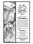 Click here to enlarge image and see more about item auc046122: Union Pacific RR Domeliner Service Ad