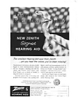 Click here to enlarge image and see more about item auc046124: Zenith Hearing Aid Ad auc046124 April 1961