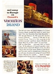 Click here to enlarge image and see more about item auc052: Cunard Vacation Island Ad auc052  Nov 1961