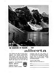 Click here to enlarge image and see more about item auc056301: Alberta Travel Bureau Ad auc056301 May 1963