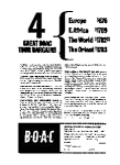 Click here to enlarge image and see more about item auc056303: BOAC Tours Ad May 1963