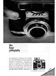 Click here to enlarge image and see more about item auc056313: Kodak Motormatic 35mm Camera Ad May 1963