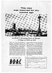 Click here to enlarge image and see more about item auc057: BOAC Economy Tours to Europe  Ad Nov 1961