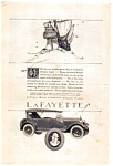 Click here to enlarge image and see more about item auc062301: Lafayette Motors Corporation Ad 1923 auc062301