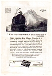 Click here to enlarge image and see more about item auc062304: Chicago, Milwaukee and St. Paul Railroad Ad 1