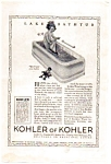 Click here to enlarge image and see more about item auc062310: Kohler Bathtub Ad auc062310 1923