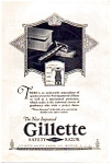 Click here to enlarge image and see more about item auc062311: Gillette Safety Razor Ad 1923