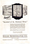 Click here to enlarge image and see more about item auc062314: Seeger Siphon Refrigerators Ad 1923