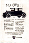 Click here to enlarge image and see more about item auc062315: 1923 Maxwell Automobile Ad