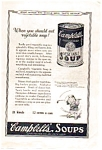 Campbell's Vegtable Soup Ad 1923