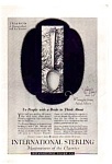 Click here to enlarge image and see more about item auc062325: International Sterling Silverware Ad 1923
