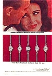 Click here to enlarge image and see more about item auc066337: Hamilton Ladies Watches Ad auc066337