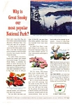Click here to enlarge image and see more about item auc066346: Sinclair Oil Great Smokey National Park Ad auc066346