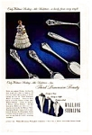 Wallace Sterling Silverware Ad 1949