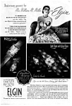 Click here to enlarge image and see more about item auc066350: Elgin Watch Ad 1940s