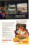 Click here to enlarge image and see more about item auc074903: Kodak Double Reward AD auc074903 1949