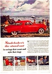 Click here to enlarge image and see more about item auc074906: 1949 Studebaker Starlight Coupe Ad auc074906