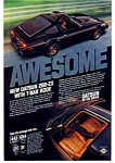 Click here to enlarge image and see more about item auc074913: Datsun Awesome T Bar 280-ZX Ad
