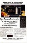 Click here to enlarge image and see more about item auc076420: Amana Radarange Microwave Ad