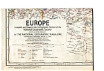 Map of Europe 1969 National Geographic