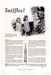 Click here to enlarge image and see more about item auc093502: Metropolitan Life Childhood Diseases Ad