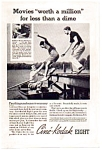 Click here to enlarge image and see more about item auc093507: Cine-Kodak Eight Movie Camera Ad