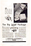 Click here to enlarge image and see more about item auc093510: American Stationery Big 450 Package Ad