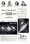 Click here to enlarge image and see more about item auc093511: Elgin Watch Ad 1940s