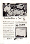 Click here to enlarge image and see more about item auc093513: General Electric Chest Freezer Ad
