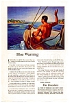 Click here to enlarge image and see more about item auc093521: The Travelers Blue Warning Ad
