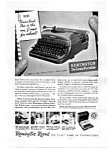 Click here to enlarge image and see more about item auc094815: Remington Rand Deluxe Portable Typewriter Ad