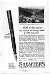 Sheaffer's Lifetime Points Ad 1921