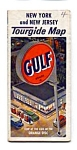 Click here to enlarge image and see more about item auc102119: Gulf Oil Tourgide Map NY and NJ