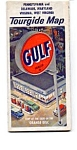 Click here to enlarge image and see more about item auc102120: Gulf Oil Tourgide Map PA,DE,MD,VA and WV