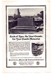 Click here to enlarge image and see more about item auc112403: Rock of Ages Ad 1924