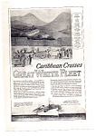 Great White Fleet Caribbean Cruises Ad 1924