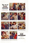 Click here to enlarge image and see more about item auc116001: Air France Jet Ad