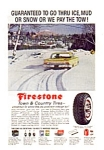 Click here to enlarge image and see more about item auc116007: Firestone Town and Country Tire Ad