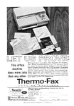 Click here to enlarge image and see more about item auc116020: Thermo Fax Copying Machines Ad auc116020