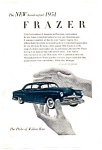 Click here to enlarge image and see more about item auc116026: 1951 Frazer Handcrafted Automobile Ad auc116026