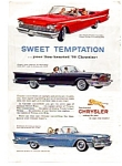 Click here to enlarge image and see more about item auc1412: Chrysler Convertible Full Line Ad auc1412  July 1959