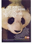 Click here to enlarge image and see more about item auc145: Gulf Oil Panda  Ad