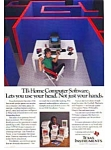 Click here to enlarge image and see more about item auc147: Texas Instruments Home Computer Software Ad